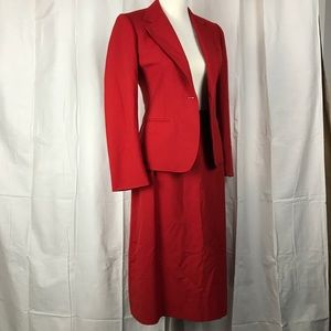 VINTAGE Red Skirt Suit